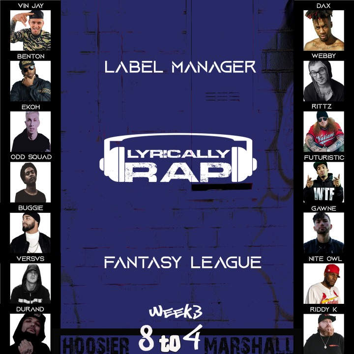 """Rap Label Fantasy League"" Week 3 results, 3-month of streaming analysis for each artist"