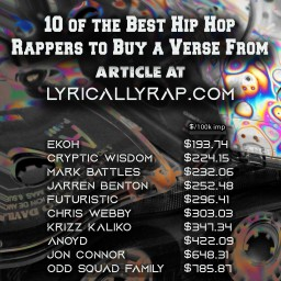 """10 of the Best Hip Hop Rappers to Buy a Verse From – """"Best Bang for your Buck"""""""